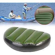 Tbest Cojín Inflable de la Pesca Asiento Inflable portátil del Barco del PVC para el Barco