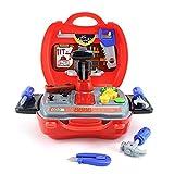 Werkzeug Spielzeug Kinder, JIM'S STORE Werkzeugkoffer Spielzeug Set 18 Stücke werkzeuggürtelset für Kleinkinder Kinder Motorik Praktisch Bildung Spielzeug