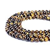 Ruilong, perline in pietra naturale AAAA, occhio di tigre, per la creazione di gioielli, 4MM