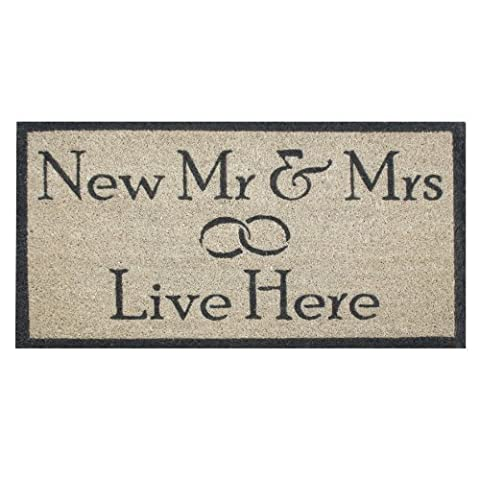 New Mr und Mrs Live Here Fußmatte