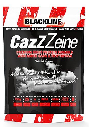 BlackLine 2.0 CazZzeine Casein Protein Mit Gaba Und Tryphtophan Und BCAA Eiweiß Proteinshake Aminosäure Bodybuilding 750g (Vanilla Cloud - Vanille)