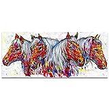 UANOU Tier Wandkunst Leinwand Malerei Pferd Bild Poster Wohnzimmer Wohnkultur Kein Rahmen