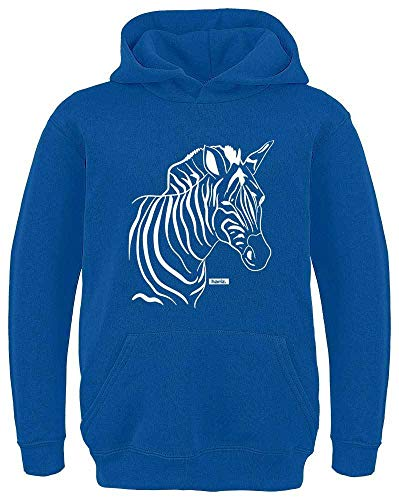 HARIZ Kinder Hoodie Zebra Süß Tiere Dschungel Inkl. Geschenk Karte Royal Blau 104/3-4 - Kind Zebra Hoodie Kostüm