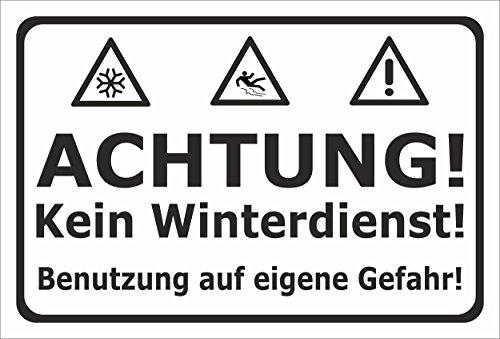 Schild aus Alu