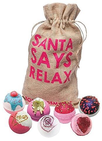 Bomb Cosmetics Santa Says Relax Geschenkset Sack Badekugel Badebombe Weihnachten