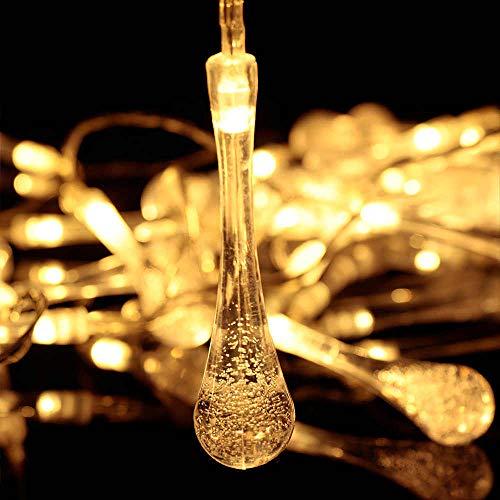 Weihnachten Wasserdichte Außenlichterkette Solarlampen Für AußenlichterketteGarten Rasen Partys Korridor 2 Modi Außenlichterkette 60 Lichter 11M