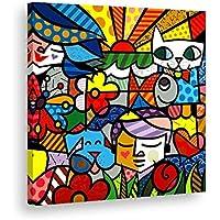Tela quadro in canvas - Romero Britto - Artyexpress Made in Italy