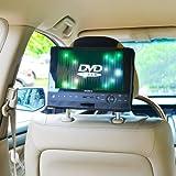 TFY - Soporte para reposacabezas de coche (para reproductor de DVD portátil giratorio de 10'')