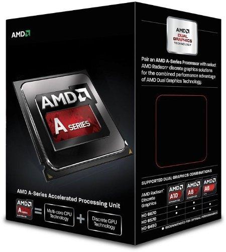 AMD A6-6400K - Procesador (3.9 GHz, FM2, Radeon HD 8470D, DDR3-SDRAM)