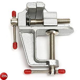 GOZAR 35Mm Morsa In Miniatura In Alluminio Piccoli Gioiellieri Hobby Clamp Sul Tavolo Panchina Strumento Vice