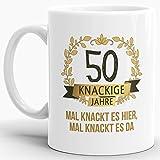 Tassendruck Geburtstags-Tasse Knackige 50