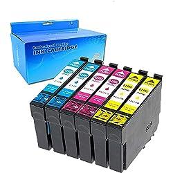 Ouguan Compatible Epson 29 29XL Cartouches d'encre pour Epson Expression Home XP-235 XP-332 XP-335 XP-432 XP-435 XP-245 XP-247 XP-442 XP-445 XP-342 XP-345 Imprimante (2 Cyan/2 Magenta/2 Jaune)