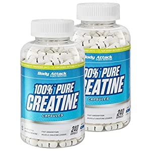 Body Attack 100% Pure Creatine Capsules, 240 Kapseln, 1er Pack (1 x 221g)