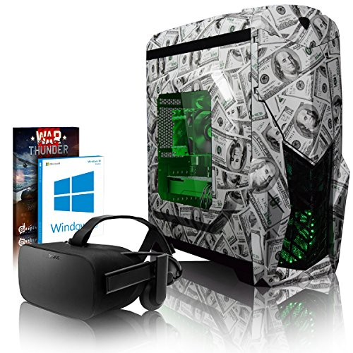 VIBOX Dollah VGL780-7 VR Gaming PC con Oculus Rift, Cupón de Juego, Win 10 (4,7GHz Intel i7 6-Core Coffee Lake Procesador, Nvidia GeForce GTX 1080 Tarjeta Grafica, 16GB DDR4 RAM, 120GB SSD, 2TB HDD)