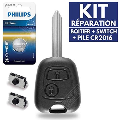 Carcasa llave caja mando distancia Plip Citroen Berlingo