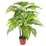 Leaf Grande Plante Artificielle en Forme de Renard avec Pot en Plastique uni 100 cm