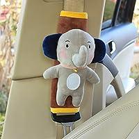 unlockgift Cute Elephant Soft Harness Baby Car Seat Belt Pads Covers Shoulder Pads Universal Fit Car Seat Belt Pads 2PCS