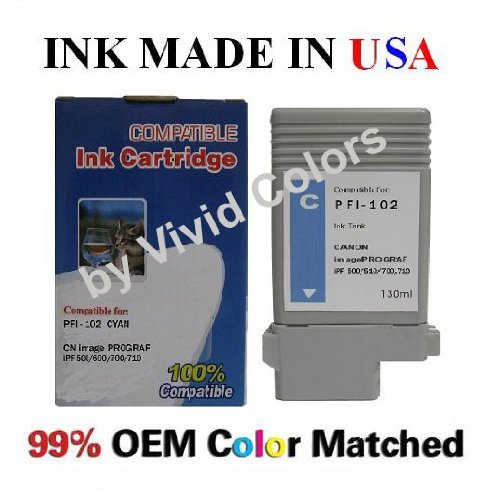 Galleria fotografica Pfi-102c-Cartuccia per stampanti canon image prograf di Vivid Colors