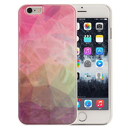 Cover Esclusiva Per iPhone 6S / 6 In Madreperla Con Motivo Geometrico Piramide o Triangolo Design Multicolore Rosa Verde Custodia Rigida Protettiva