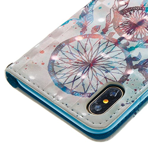 iPhone X Custodia, JEPER Pu Pelle Portafoglio Bookstyle Flip Cover Stand Case con chiusa Magnetica Protettiva in pelle per Apple iPhone X 07
