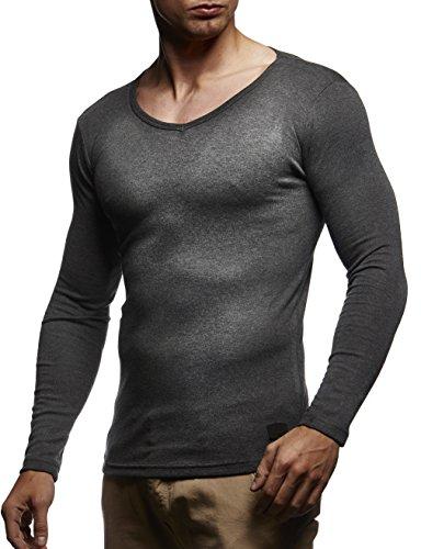 d8f81a98822f Zum Shop · LEIF NELSON Herren Longsleeve Basic Sweatshirt langarm Shirt  Pullover V-Ausschnitt