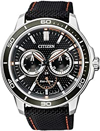 Citizen Herren-Armbanduhr XL Analog Quarz Textil BU2040-05E