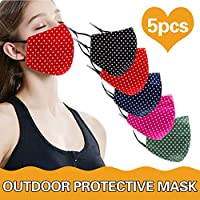 BeAcient Dust Mask, Anti-dust Mouth Mask, Unisex Cotton Face Mask Muffle Shield Spot Mask for Cycling Travel Outdoors for Adult Men Women (A)
