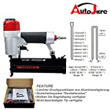 AUTOJARE 2in1 Metall pneumatisch Nagler /Druckluftnagler / Druckluft-Tacker&Nagler (18 Gauge nägel 10-50mm,Heftklammern 12-40 mm)