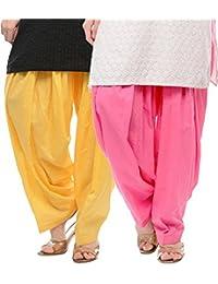 Sri Belha Fashions Womens Cotton Salwar Bottom (SBF-W-2218 _Mulit-Coloure _Free Size)- Set OF-1