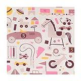 Tissu popeline enfant jouets rétro - Largeur 148cm - Longueur au choix par 50cm