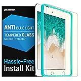 ESR Protection Ecran Anti Lumière Bleue pour iPad 2018/2017 / Air 2 / Air/Pro 9.7 [Gabarit de Pose Inclu] Film en Verre Trempé, Indice Dureté 9H Ultra Résistant