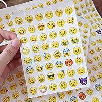 CHIGANT 4 Hojas / Set niños Divertidos Dibujos Animados Emoji Pegatinas Álbumes y Pegatinas
