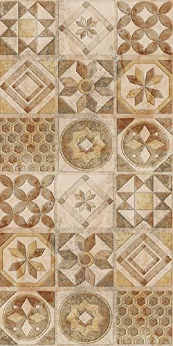 Arredo carpet passatoia tappeto digitale in vinile pvc con fantasia azulejos mattonelle partoghesi.