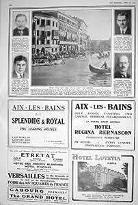 ANNONCES 1923 DE L'HÔTEL ETRETAT VERSAILLES REGINA BERNASCON DE PHOTOGRAPHIE DE VENISE