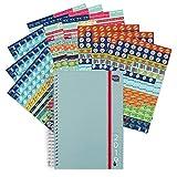 Boxclever Press Life Book agenda 2019 avec Lot Géant de Stickers Pense-bêtes (1152 autocollants). Agenda semainier 2019 A5, grand espace pour chaque jour. S'étend d'aujourd'hui à décembre 2019.