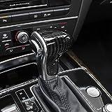 Schaltknauf Kopf Abdeckung Schaltknäufe Kopf Cover Customized Kohlefaser Schwarz für Audi Old Modelle A4 A5 A6 A7 Q3 Q5 Q7