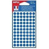 AGIPA Sachet de 462 étiquettes Gommettes de signalisation Rondes 8 mm Bleu