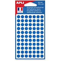 APLI Sachet de 462 étiquettes Gommettes de signalisation Rondes 8 mm Bleu