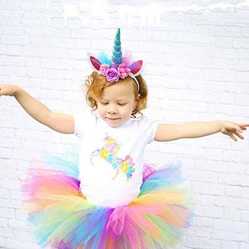 Kicode Fashion Net Yarn Gold Horn-Haar-Band Einhorn-Stirnband Mädchen Kopfschmuck Kinder-Kostüm Party-Zubehör