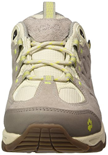 Jack Wolfskin Mtn Attack 5 Texapore Low W, Chaussures de Randonnée Basses Femme Beige (Flashing Green)
