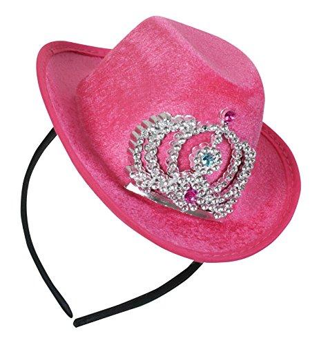 FASCHING 57021 Haarreif Cowboy Cowgirl Mini-Hut rosa NEU/OVP