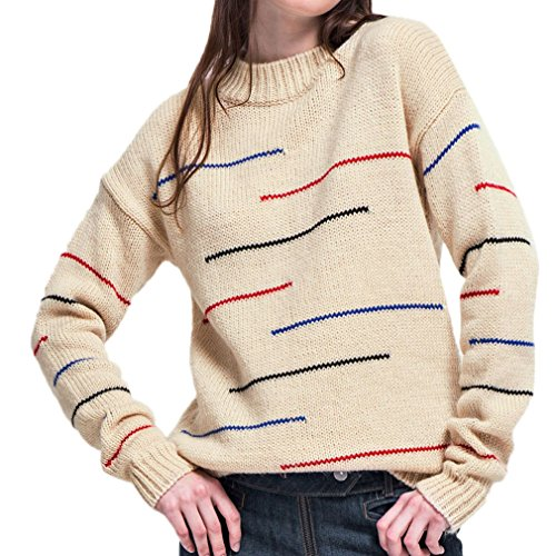 Smile YKK Sweat-shirt Femme Chic Sweat Col Rond Veste Automne Hiver Manches Longues Casual Multicolore