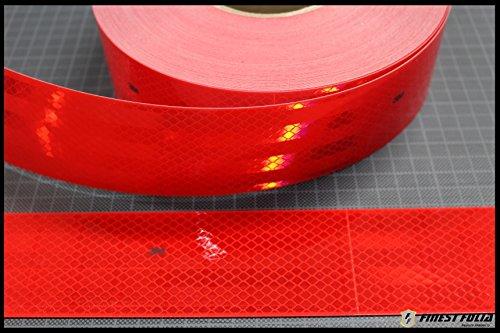 Preisvergleich Produktbild 1m 3M Diamond Grade 983 Rot Scotchlite Konturmarkierung Reflexfolie Reflexband (1 Meter)
