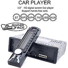 1188b 1DIN 12V coche Radio FM estéreo reproductor de mp3bluetooth AUX Entrada con panel frontal extraíble y puerto USB y mando a distancia