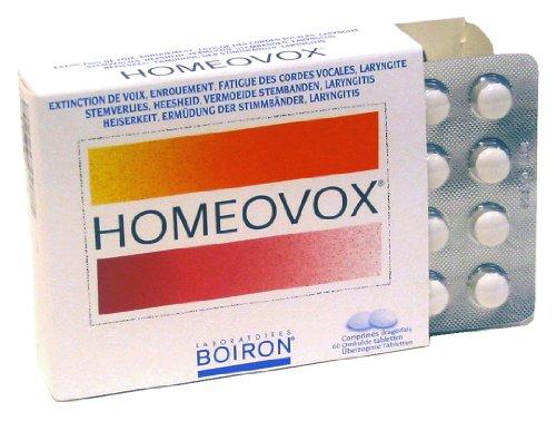 HOMEOVOX® hilft beruhigen gespannten Stimmbänder. 60 Tabletten von Boiron