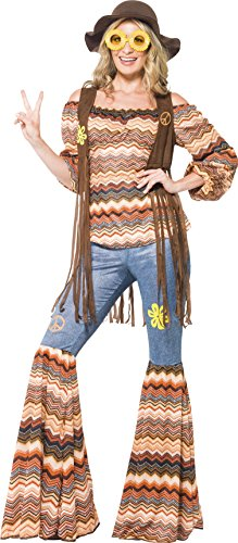 Smiffy's - Disfraz de hippie años 60, para mujeres (43856X1)