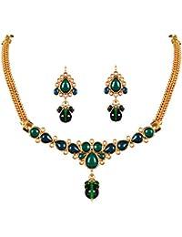 THE PARI Green Alloy Jewellery Set For Women