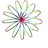 Flow Rings The Original Kinetic 3D Spring Toy Sculpture Ring Gamerainbow Effect and More Brighter No Scratches, Sharp Corners Or Breaking Down(Rainbow)