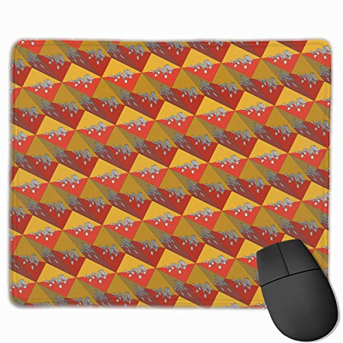 Bhutan Flag (Bhutan Flag 3D Art Pattern Mouse Gaming Mouse Pad Non-Slip Smooth Desk Mat Washable Material 7.1 x 8.7 Inches(18x22CM))