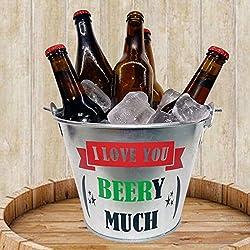 "CUBO CON ABRIDOR DE CERVEZA "" I love you beery much"""